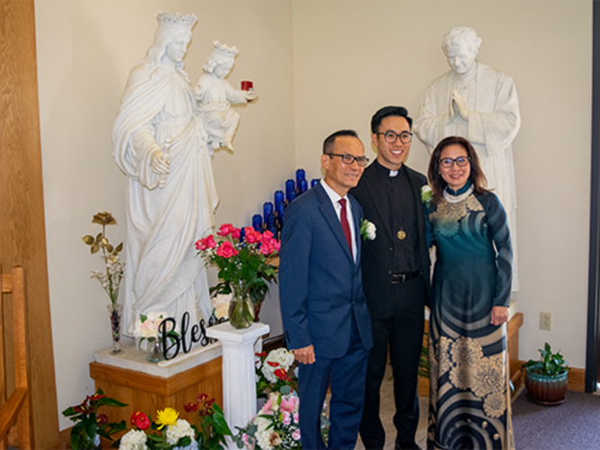 Br. Francis Nguyen and His Parents
