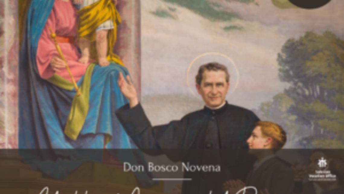 Don Bosco Points to Jesus
