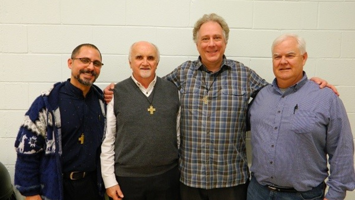 Frs. Abe Feliciano, Tim Ploch, Tim Zak, and Mike Conway