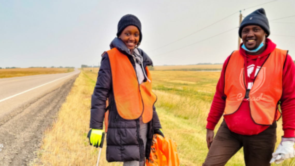 Picking up Litter - Laudato Si