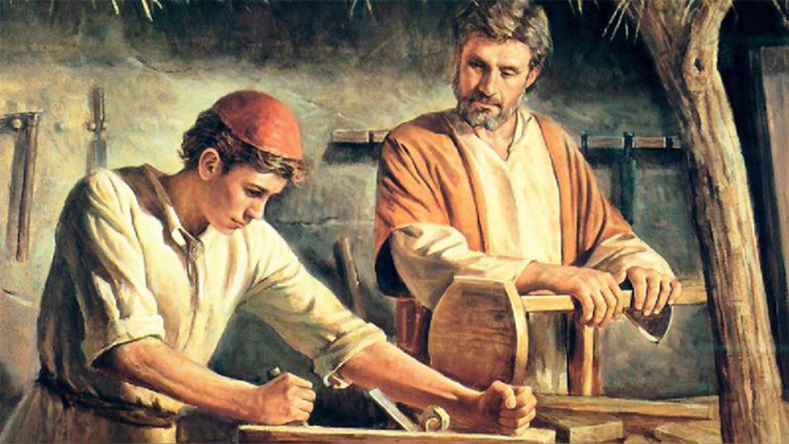 St. Joseph and Jesus working