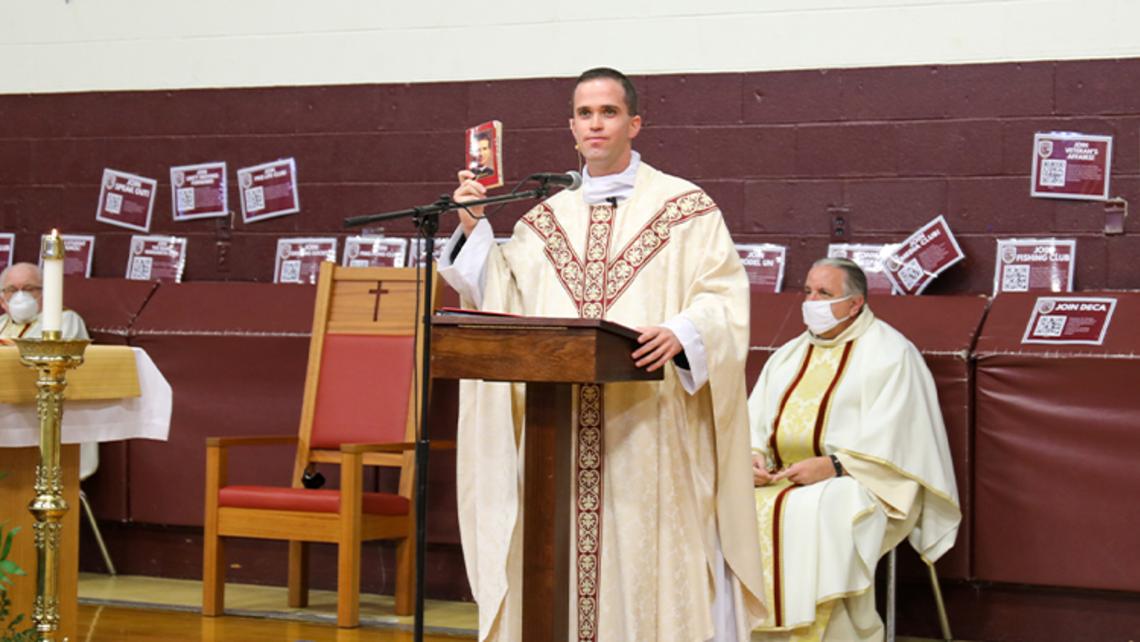 Fr. Ryan Muldoon '09 Returns to Don Bosco Prep