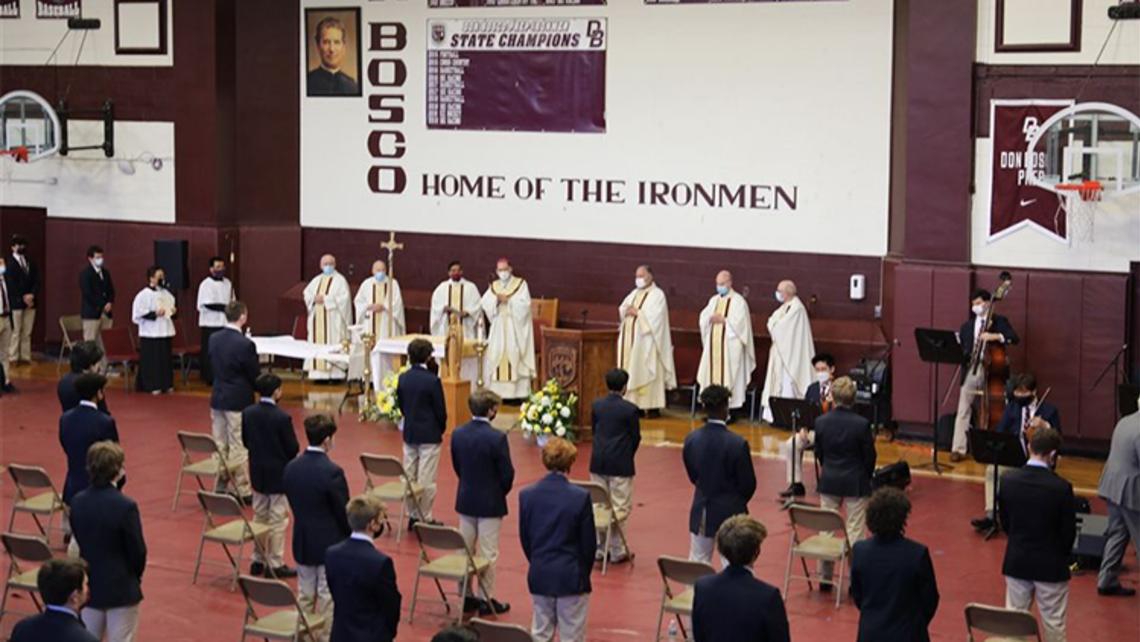 St. Joseph Mass at Don Bosco Prep